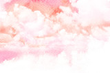 Akwarela ilustracja chmury. - 87055790