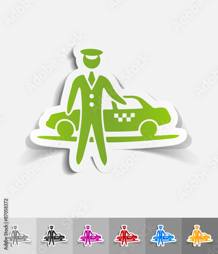 realistic design element. the parking and taxi Canvas Print