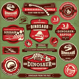 Vintage dinosaur label design set