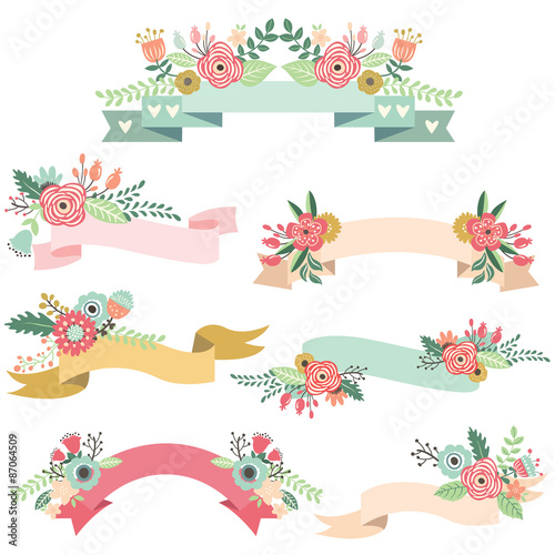 Photo  Wedding Floral Banners