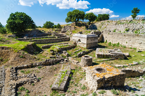 Fotografie, Obraz The ruins of the legendary ancient city of Troy. Turkey