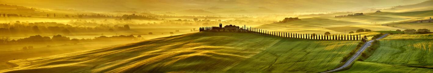 Obraz na Szkle HI res mega pixel Tuscany hills panorama
