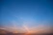 Twilight sky on sunset time