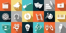 Set Of Icons Dedicated To Arts...