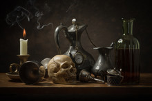 Classic Still Life With Old Objects