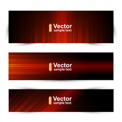 Vector template technology banners