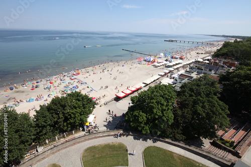Fototapeta morze Bałtyk plaza-w-kolobrzegu