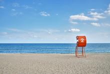 Lifeguard Tower And Sandy Beach