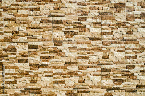 Decorative relief cladding slabs imitating stones on wall - Buy this ...