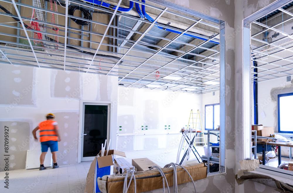 Fototapeta Interno di edificio in costruzione