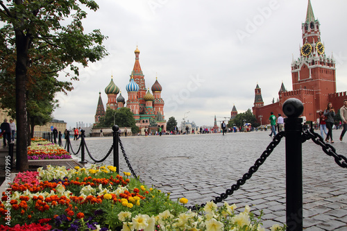 Photo  View of Red Square and St. Basil's Cathedral..