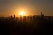 frankfurt germany sundown skyline