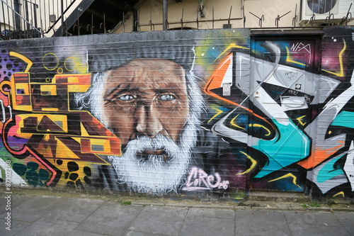 LONDON,GREAT BRITAIN - MAY: Street art on May 30, 2015 in Central London, is a new art trend and growing in popularity through art tours.