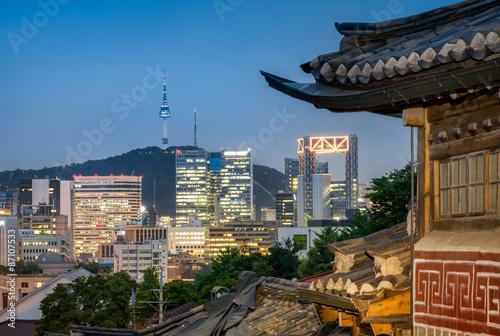 Foto op Canvas Seoel Bukchon Hanok Village in Seoul