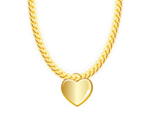 Gold Chain Jewelry Whith Heart...