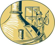 Brewermaster Brewer Brewing Beer Etching