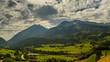 Berner Oberland Farmland swiss mountain landscape time lapse