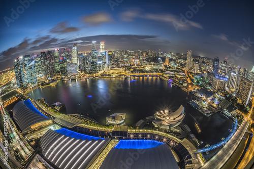 Aluminium Prints Industrial building Singapore city at night