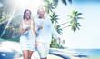 Couple Honeymoon Tropical Beach Romantic Concept