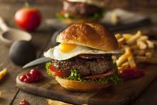 Homemmade Bacon Hamburger With...