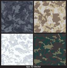 Seamless Camouflage Pattern Ve...