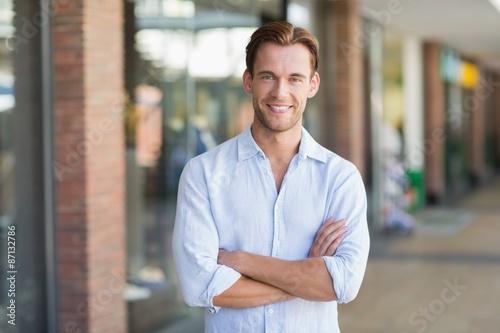 Fototapety, obrazy: Portrait of happy smiling man