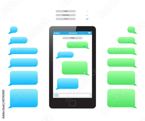 Phone Message Template  Buy This Stock Vector And Explore Similar
