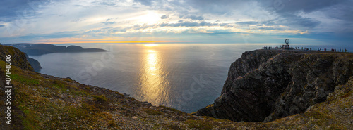 Sunset Nordkap Panorama
