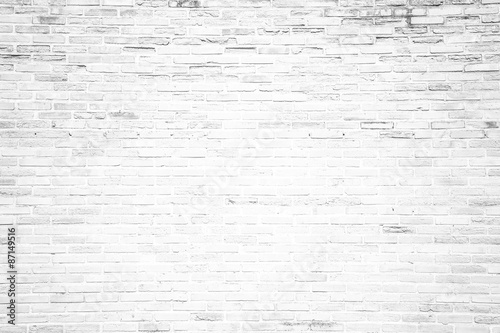 Foto op Plexiglas Baksteen muur White grunge brick wall texture background