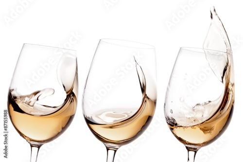 Foto op Canvas Alcohol Wine, White Wine, Glass.