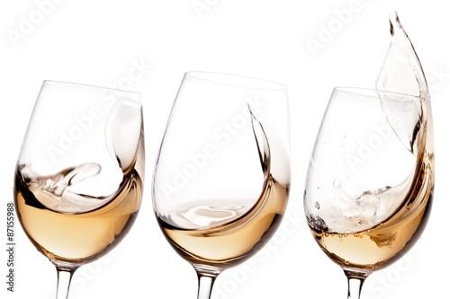 Foto op Plexiglas Alcohol Wine, White Wine, Glass.