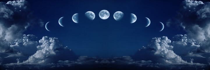Devet faza punog mjesečevog ciklusa rasta
