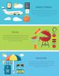 World Travel Picnic Vacation Horizontal Web Banner