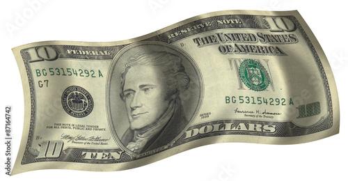 Fototapeta ten dollar flag obraz