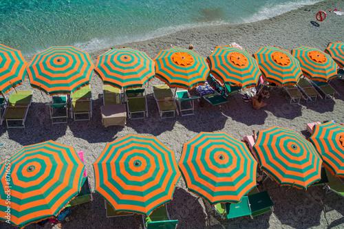 Photographie  Monterosso al Mare Beach , famous Cinque Terre