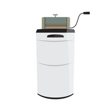 Vector Illustration Of Retro Wash Machine With Wringer