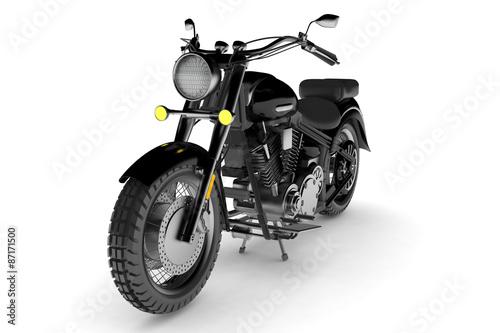 Fotobehang Fiets isolated black motorbike.