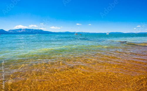 In de dag Afrika Beautiful Lake Tahoe, California.