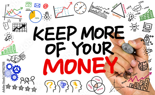 keep more of your money handwritten on whiteboard - 87182788