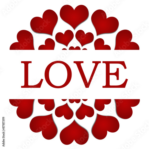 Photo  Love Red Hearts Circular Square