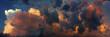 Leinwandbild Motiv Dramatic sky panorama, colorful sky in the sunset