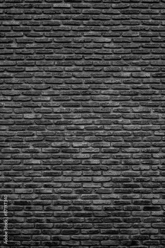 Foto op Plexiglas Historisch geb. Monochrome brick wall texture, background