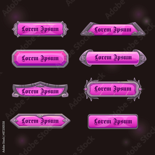 Photo  Vector game elements