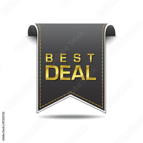 Fotografering  Best Deal golden Vector Icon Design