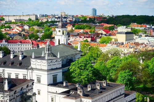 Poster  View from Gediminas castle to the old Vilnius