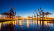 Leinwandbild Motiv Hamburg Containerhafen
