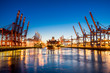 canvas print picture - Hamburg Containerhafen