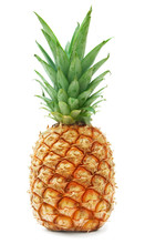 Ripe Pineapple Isolated On Whi...