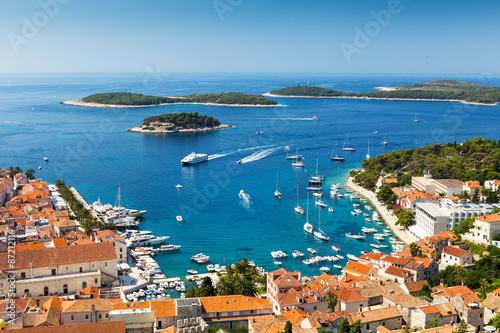 Obraz Miasto Hvar, Chorwacja - fototapety do salonu