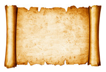 Vintage Scroll Isolated On Whi...